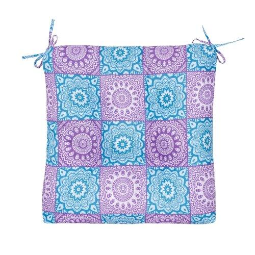 Подушка на стул Guten Morgen сидушка толстушка Индия, 40 x 40 см фиолетовый/голубой подушки на стул dorothy s home сидушка декоративная 40 40 цвет терракот