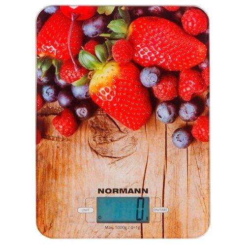 Кухонные весы Normann ASK-270 бежевый/красный/синий