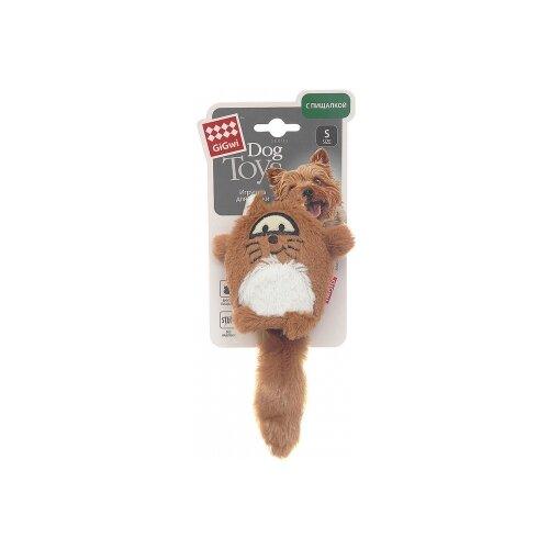 Игрушка для собак GiGwi Dog Toys Лиса (75220) коричневый/белый