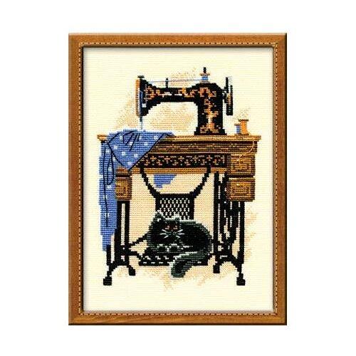 Купить Риолис Набор для вышивания крестом Швейная машинка 18 х 24 (857), Наборы для вышивания