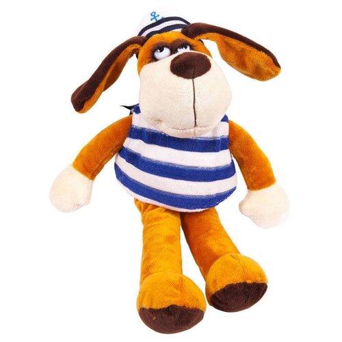 Мягкая игрушка ABtoys Собака в тельняшке 18 смМягкие игрушки<br>