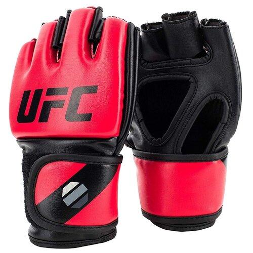 Перчатки UFC 5oz для MMA красный S/M 5 oz груша ufc кожаная скоростная 9х6 красный черный