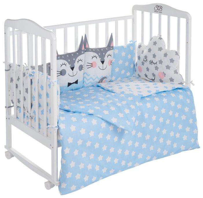 Комплект постельного белья Sweet Baby Gioia Rosa, цвет: розовый 4 предмета