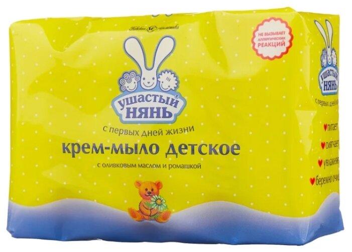 Ушастый Нянь Крем-мыло с оливковым маслом и ромашкой 90 г