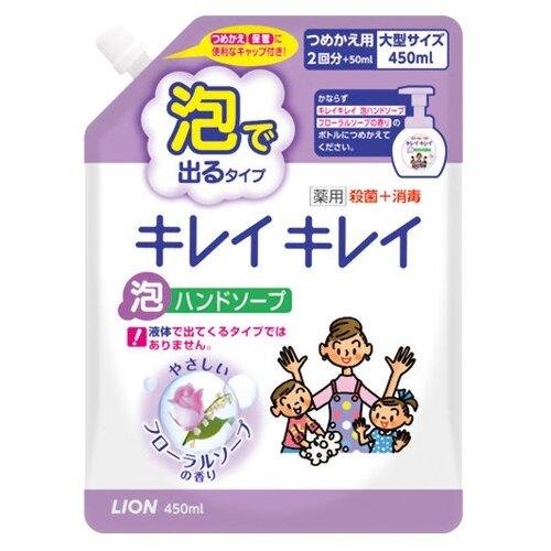 косметика для мамы lion kirei kirei пенное мыло для рук с ароматом цитрусовых фруктов запасной блок 450 мл Пенка Lion Kirei Kirei цветы, 450 мл