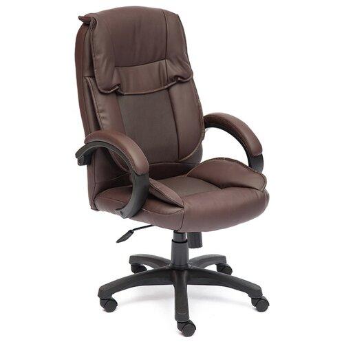 Компьютерное кресло TetChair Oreon (обивка кож/зам) для руководителя, обивка: искусственная кожа, цвет: коричневый oreon mebelvia
