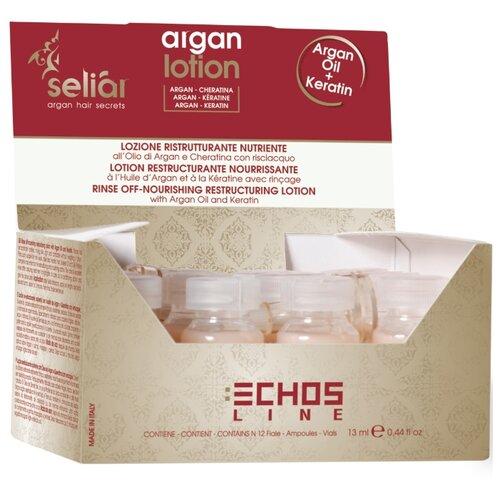 Купить Лосьон SELIAR ARGAN для питания волос ECHOS LINE с аргановым маслом 12*13 мл, Echosline