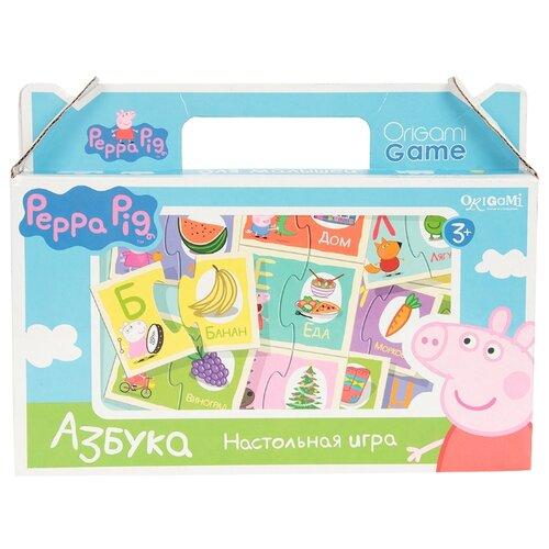 Купить Настольная игра Origami Peppa Pig. Азбука, Настольные игры