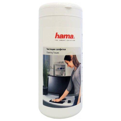 Фото - HAMA Cleaning Tissues влажные салфетки 100 шт. для оргтехники cactus cs t1002 влажные салфетки 100 шт для оргтехники