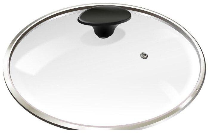 Крышка Lumme стеклянная LU-GL16 (16 см) прозрачный/черный