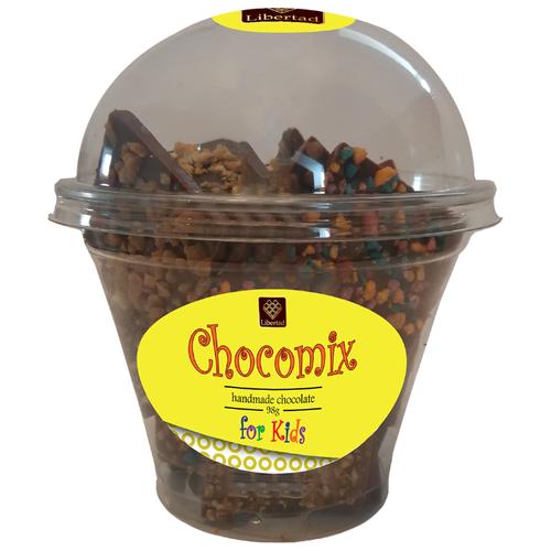 Шоколад Libertad Chocomix молочный с карамелью и жевательными конфетами, 98 г