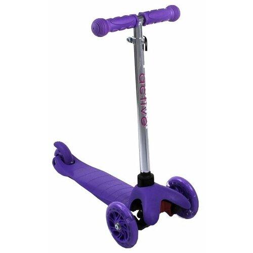 Детский кикборд Triumf Active Mini Up Flash SKL-06AH, фиолетовый детский кикборд triumf active mini up flash skl 06ah оранжевый