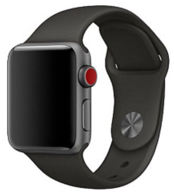 Karmaso Ремешок для Apple Watch 42 мм спортивный черный