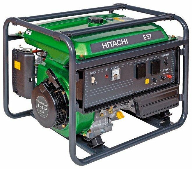 Бензиновый генератор Hitachi E57 (5100 Вт)
