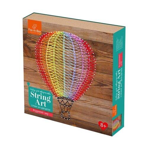 Купить Fox-in-Box Набор для творчества Стринг Арт для детей Воздушный шар (FB606301), Поделки и аппликации
