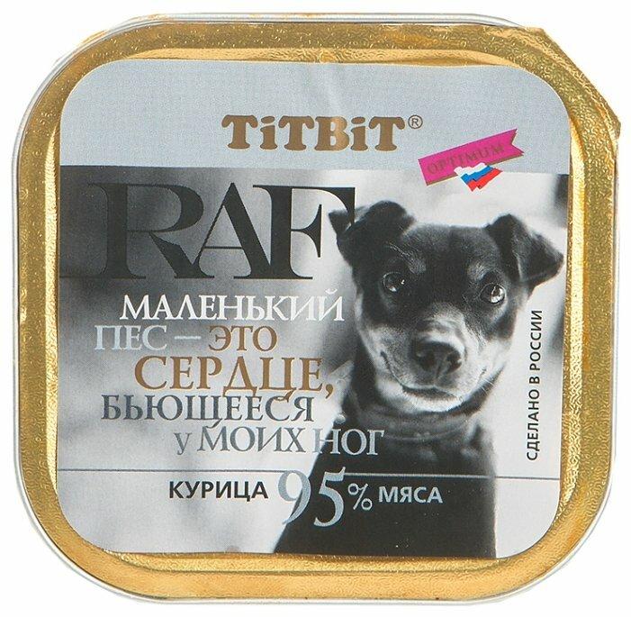 Корм для собак Titbit Консервы для собак RAF Курица