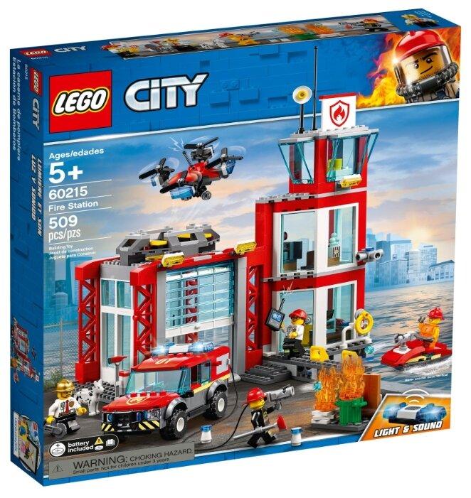 Конструктор Lego City Пожарное депо 509 дет. 60215