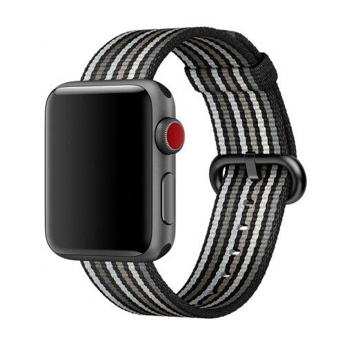 Купить CARCAM Ремешок для Apple Watch 42mm New Canvas Band черный/белый
