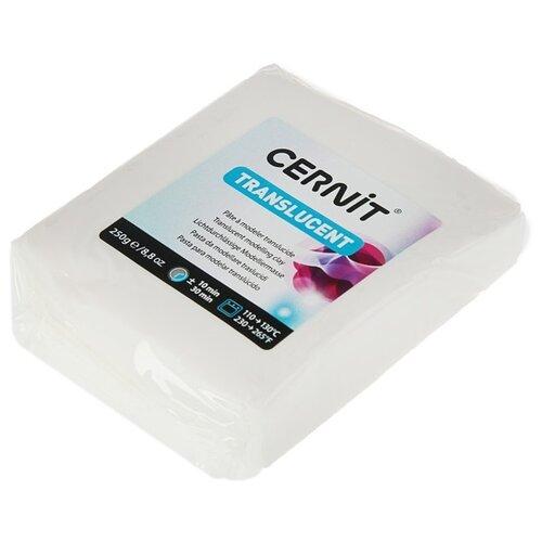 Купить Полимерная глина Cernit Translucent прозрачная (005), 250 г, Глина