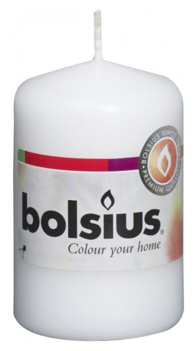 Свеча Bolsius столбик 80 х 50 мм кремовый