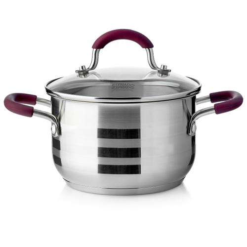 Кастрюля Esprado Optimale 2 л, серебро/бордо esprado чайник onix 2 2 л черный серебристый