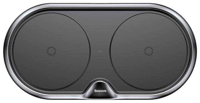 Сетевая зарядка Baseus Dual Wireless Charger plastic