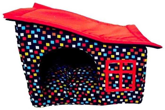 Домик для кошек, для собак LOORI Кубики Z0272 50х35х40 см красный