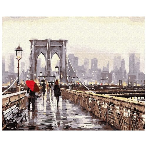 Купить Картина по номерам ВанГогВоМне ZX 22891 Прогулка по мосту 40х50 см, Картины по номерам и контурам