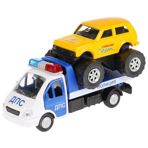 Купить Набор машин ТЕХНОПАРК ГАЗель 3302 (SB-16-42-T5-WB) белый/синий/желтый, Машинки и техника