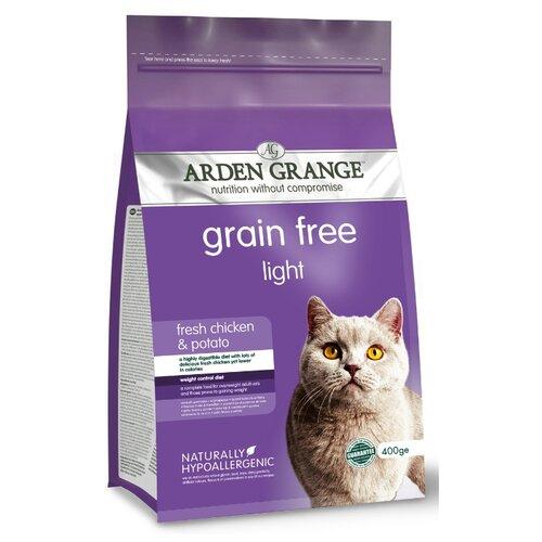 Корм для кошек Arden Grange Adult Cat Light курица и картофель сухой корм беззерновой, для взрослых кошек, диетический 0.4 кг