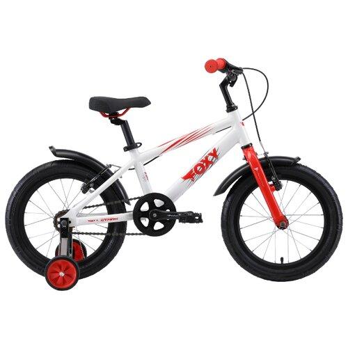 Детский велосипед STARK Foxy 16 (2019) белый/красный/серый (требует финальной сборки) велосипед stark 20 foxy 14 girl бирюзовый розовый