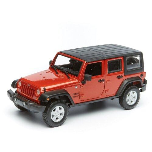 Купить Maisto Машинка металлическая Jeep Wrangler Unlimited 2015, 1:24, красный, Машинки и техника