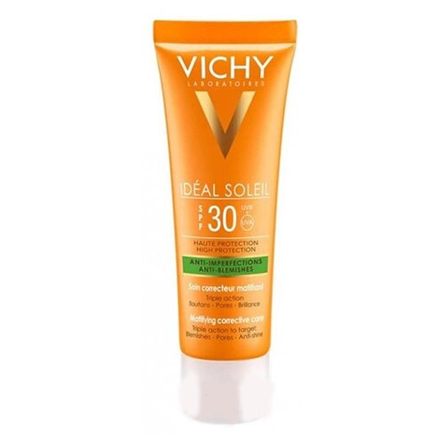 Vichy средство Ideal Soleil Anti-Imperfections Anti-Blemishes, SPF 30, 50 мл масло виши vichy spf 50