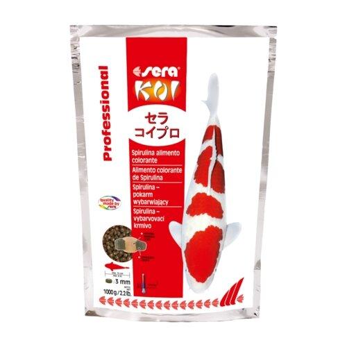 Сухой корм для рыб Sera Koi Professional Spirulina Color 1000 г сухой корм для рыб sera koi professional лето 1000 г