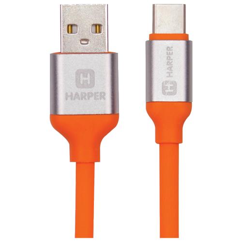 Фото - Кабель HARPER USB - USB Type-C (SCH-730) 1 м оранжевый кабель harper type c sch 730 orange