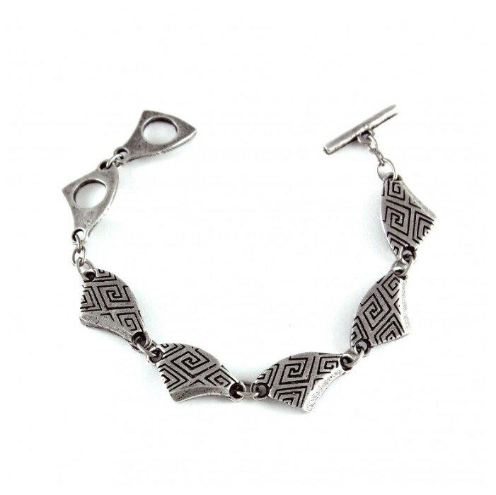 Кожаный браслет «УНО», черный с серебром Bradex AS 0677