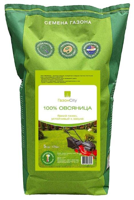 Семена ГазонCity Овсяница 100% Яркий газон, 5 кг