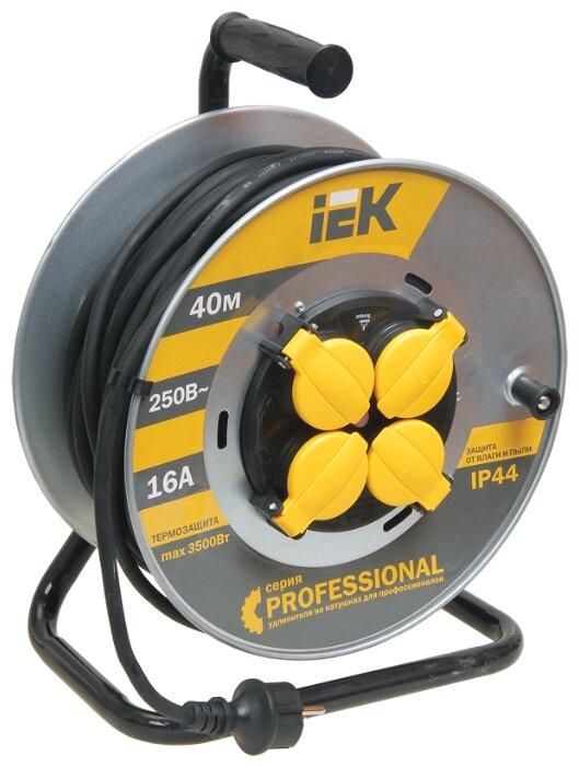 IEK Удлинитель на катушке 4х40м с заземл. 16А IP44 УК40 Professional с термозащ. КГ 3х1.5