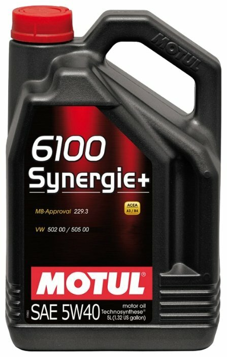 Моторное масло Motul 6100 Synergie+ 5W40 5 л — купить по выгодной цене на Яндекс.Маркете