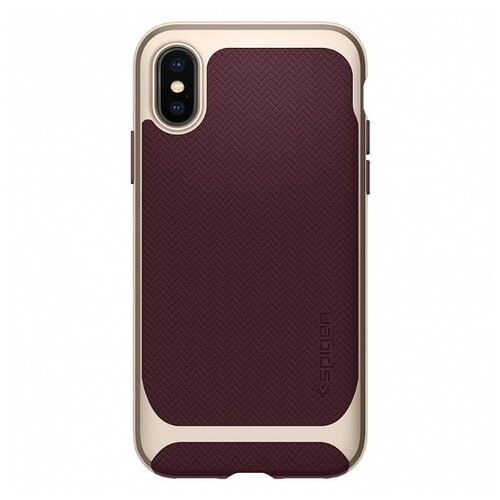 Фото - Чехол Spigen Neo Hybrid (057CS221) для Apple iPhone X burgundy чехол для apple iphone xs max spigen neo hybrid crystal темно серый
