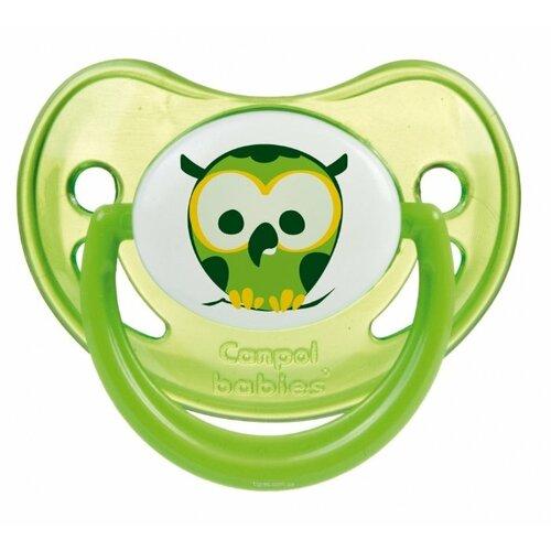 Купить Пустышка силиконовая ортодонтическая Canpol Babies Night Dreams 0-6 м (1 шт.) зеленый, Пустышки и аксессуары