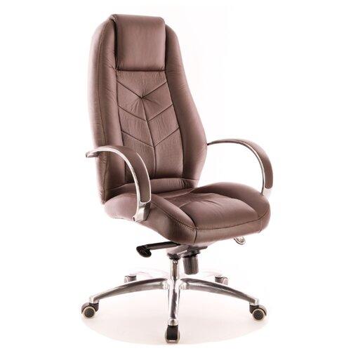 Фото - Компьютерное кресло Everprof Drift Full M для руководителя, обивка: искусственная кожа, цвет: коричневый компьютерное кресло everprof drift m для руководителя обивка натуральная кожа цвет коричневый