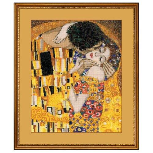 Купить Риолис Набор для вышивания крестом Поцелуй (по мотивам картины Г. Климта) 30 х 35 см (1170), Наборы для вышивания
