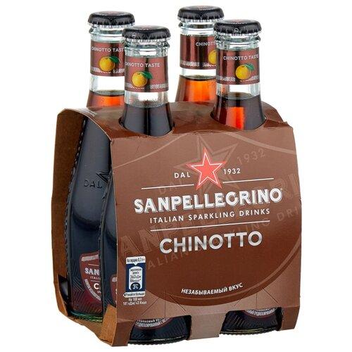 Газированный напиток Sanpellegrino Chinotto Померанец, 0.2 л, 4 шт.