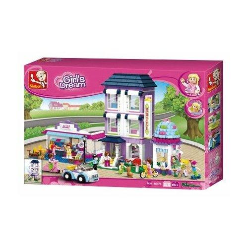 Купить Конструктор SLUBAN Розовая мечта M38-B0579 Отель, Конструкторы