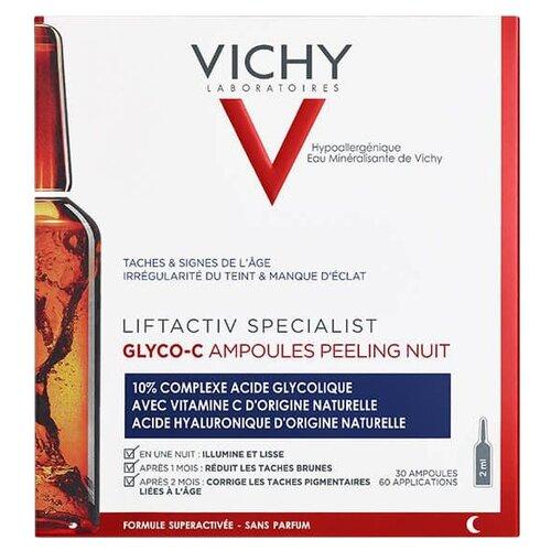 Vichy пилинг-сыворотка ночного действия Liftactiv Specialist Glyco-C 2 мл 30 шт. сыворотка c против морщин лифт актив про vichy liftactiv cxp 3555 лет