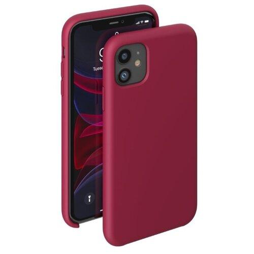 Чехол-накладка Deppa Liquid Silicone Case для Apple iPhone 11 красный чехол deppa liquid silicone case для apple iphone 11 pro max лавандовый картон 87312