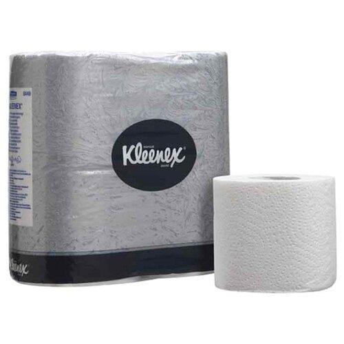 Купить Туалетная бумага Kleenex 8449 двухслойная белая в стандартных рулонах 4 рул.