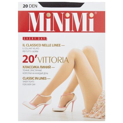 Колготки MiNiMi Vittoria 20 den, размер 1/2-S, fumo (серый) колготки minimi lanacotone 180 den размер 2 s m fumo серый