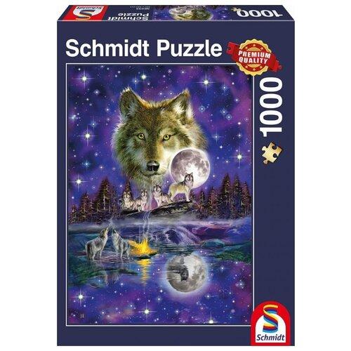 Фото - Пазл Schmidt Волк в полнолуние (58233), 1000 дет. волк и полнолуние